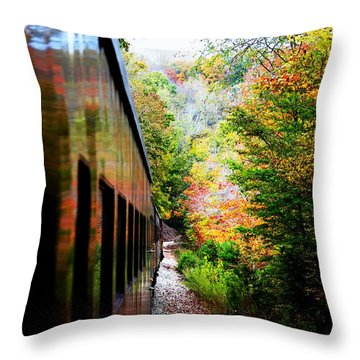 Throw Pillow featuring the photograph Destination by Faith Williams