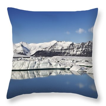 Destination - Iceland Throw Pillow by Evelina Kremsdorf