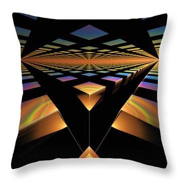 Destination Paths Throw Pillow by GJ Blackman