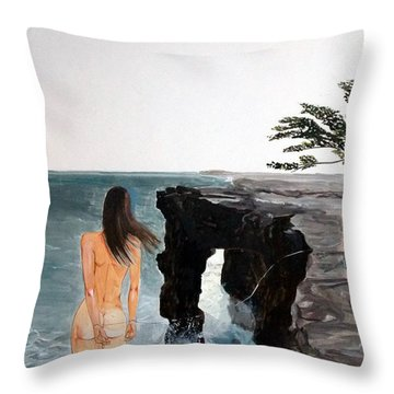 Destinos Throw Pillow