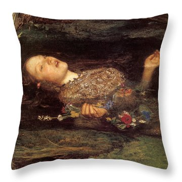 Detail From Ophelia Throw Pillow by Philip Ralley