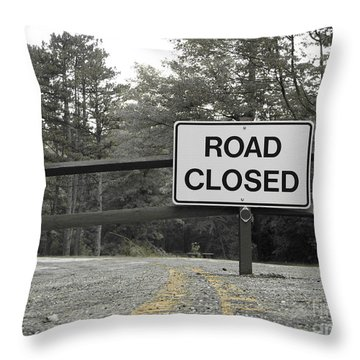 Throw Pillow featuring the photograph Detour by Michael Krek