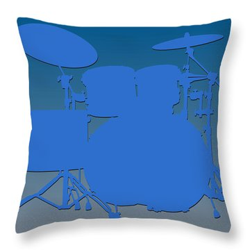 Detroit Lions Drum Set Throw Pillow by Joe Hamilton