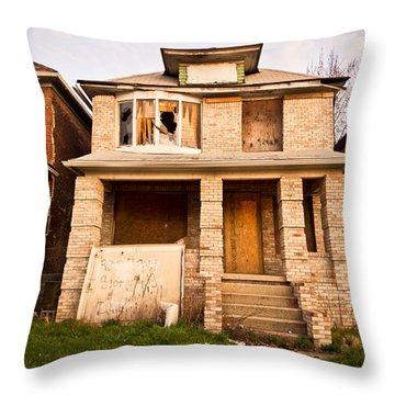 Detroit Neighborhood Throw Pillow