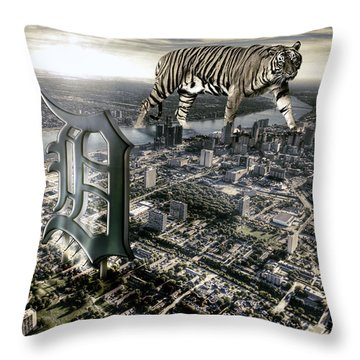 Detroit Throw Pillow