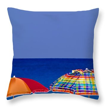 Deuce Umbrellas Throw Pillow by Gary Dean Mercer Clark