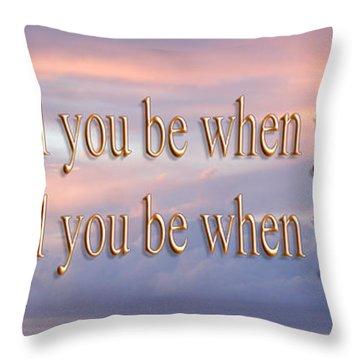 Deuteronomy 28 Verse 6 Throw Pillow by Leticia Latocki