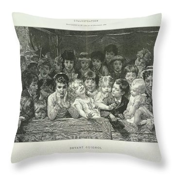 Large Group Of Objects Throw Pillows