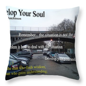 Develop Your Soul Throw Pillow