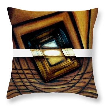 Throw Pillow featuring the painting Deversity View by Fei A