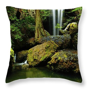 Devil Creek Falls  Throw Pillow by Jeff Swan