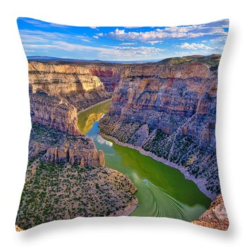 Devil's Canyon Overlook Throw Pillow