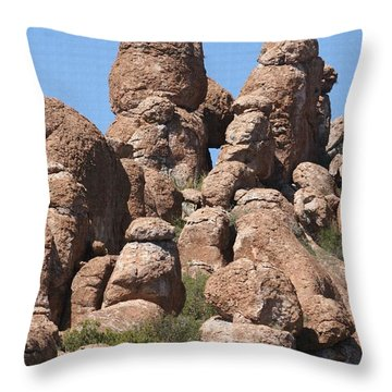 Devils Canyon Wall Throw Pillow by Tom Janca