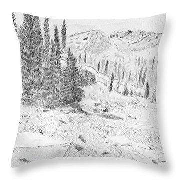 Devil's Castle Throw Pillow