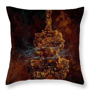 Devils Fiddle Throw Pillow by Fran Riley