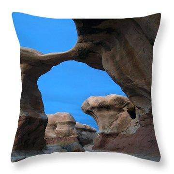 Devil's Garden Metate Arch 004 Throw Pillow