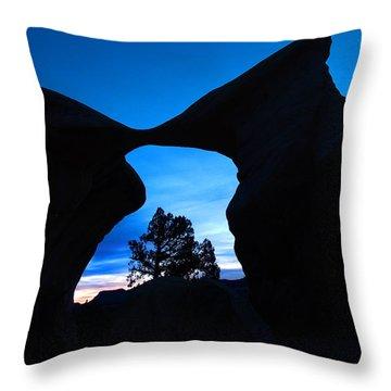 Devil's Garden Metate Arch 011 Throw Pillow