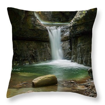 Devil's Pass Canyon Throw Pillow by Davorin Mance