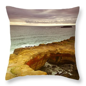 Devil's Punch Bowl Throw Pillow by Eti Reid