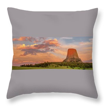 Devils Tower Throw Pillows