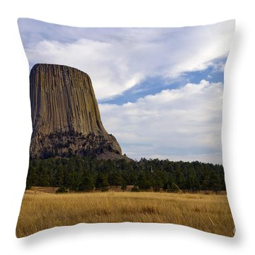 Devil's Tower No.2 Throw Pillow
