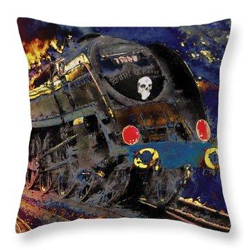 Devil's Train Throw Pillow by Pennie  McCracken