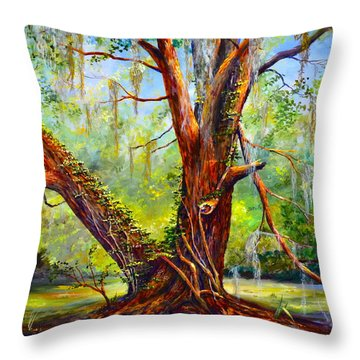 Devine Oak Throw Pillow