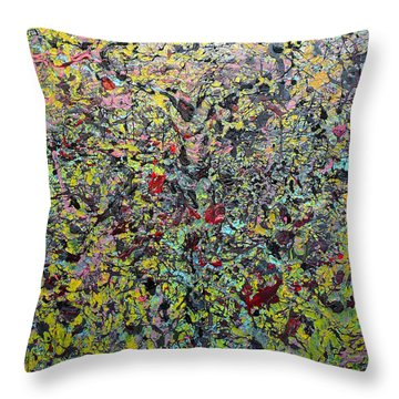 Throw Pillow featuring the painting Devisolum by Ryan Demaree