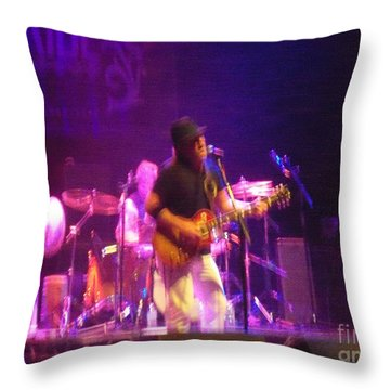 Throw Pillow featuring the photograph Devon Allman by Kelly Awad