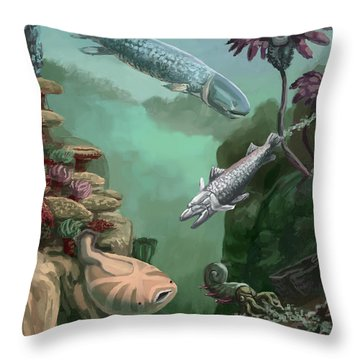 Devonian Period Throw Pillow by Spencer Sutton