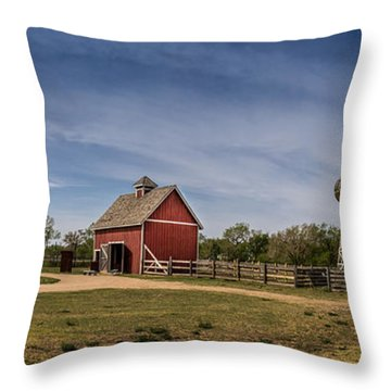 Devore Farm Throw Pillow