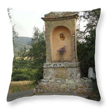 Devotion In Loppiano Throw Pillow