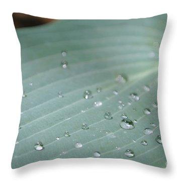 Dew Diamonds On Hosta Throw Pillow