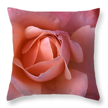 Dew Drops On My Petals Throw Pillow by Joy Watson