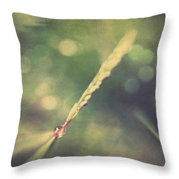 Dew Throw Pillow by Taylan Apukovska