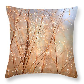 Dewdrop Morning Throw Pillow