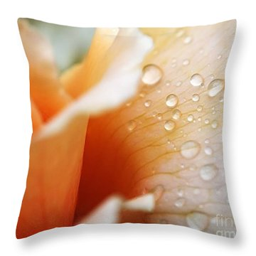 Dewy Rose Throw Pillow