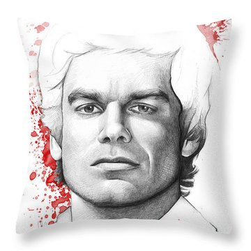Dexter Morgan Throw Pillow by Olga Shvartsur
