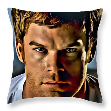 Dexter Portrait Throw Pillow