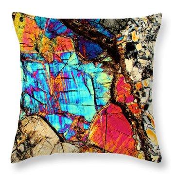A Splash Of Blue Throw Pillow