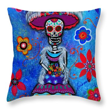 Dia De Los Muertos Catrina Throw Pillow