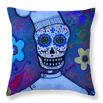 Dia De Los Muertos Cocinero Throw Pillow