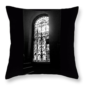 Throw Pillow featuring the photograph Dia Window by Daniel Thompson