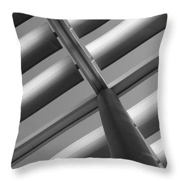 Diagonal Lines Throw Pillow