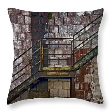 Diagonal Stairs Throw Pillow by Murray Bloom