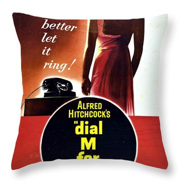 Dial M For Murder - 1954 Throw Pillow by Georgia Fowler