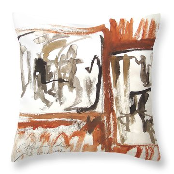 Dialogue Of Squares Throw Pillow by Esther Newman-Cohen
