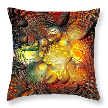 Throw Pillow featuring the digital art Diamant By Nico Bielow by Nico Bielow