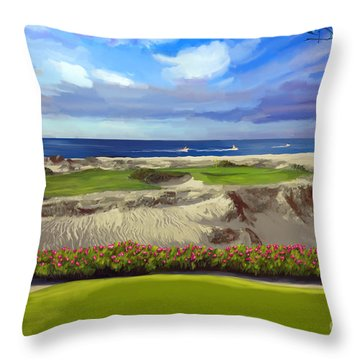 Diamante Dunes Cabo 16th Throw Pillow