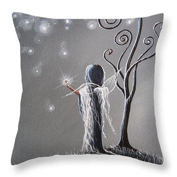 Diamond Fairy By Shawna Erback Throw Pillow by Shawna Erback